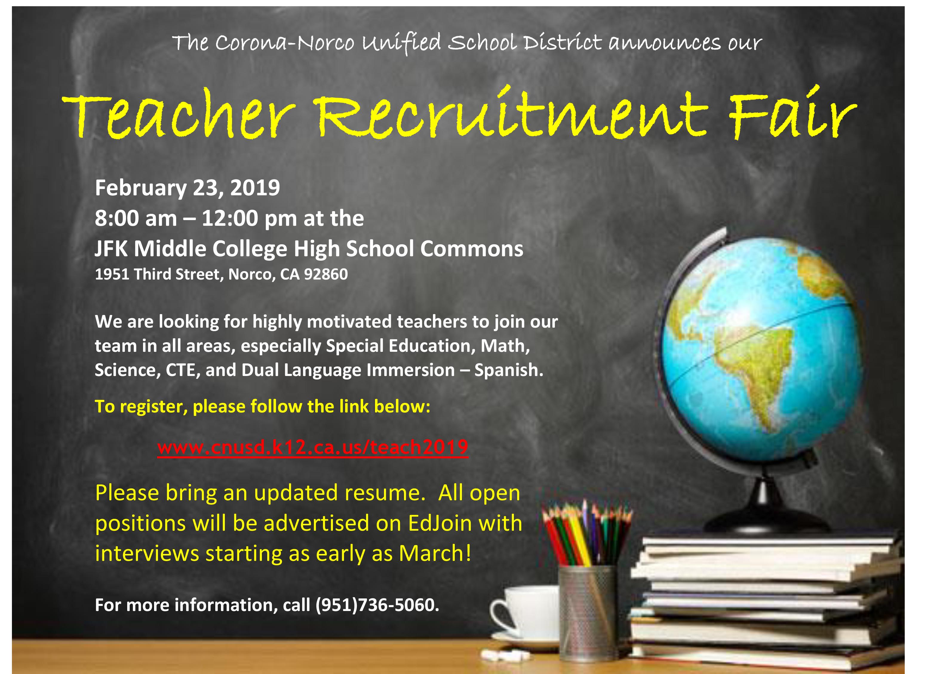 2019 Teacher Recruitment Fair