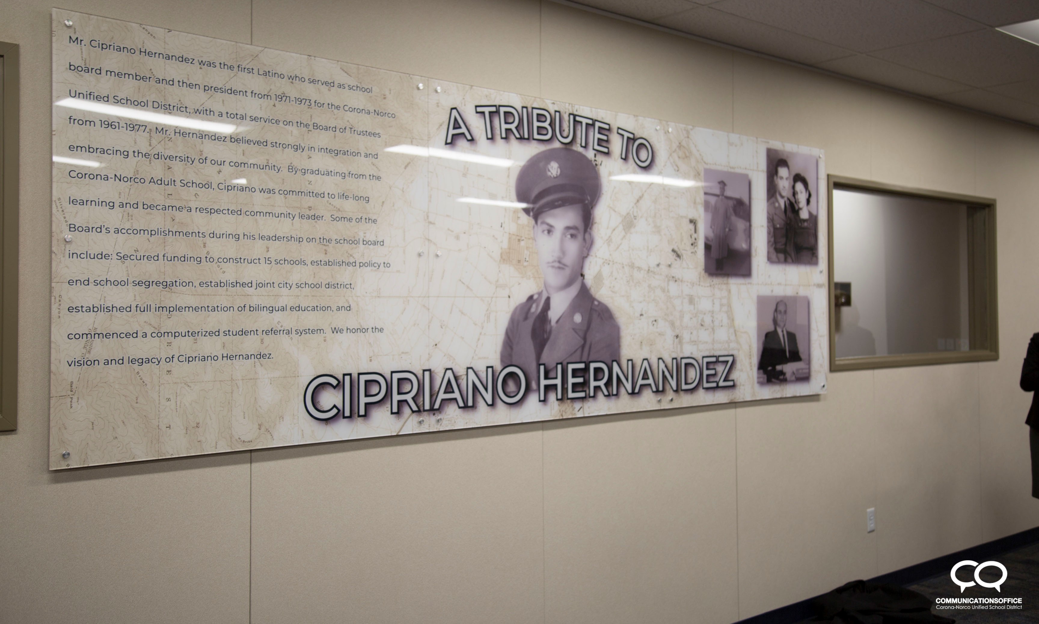 Adult Education Training Center Dedicated to Former Board President, Mr. Cipriano Hernandez