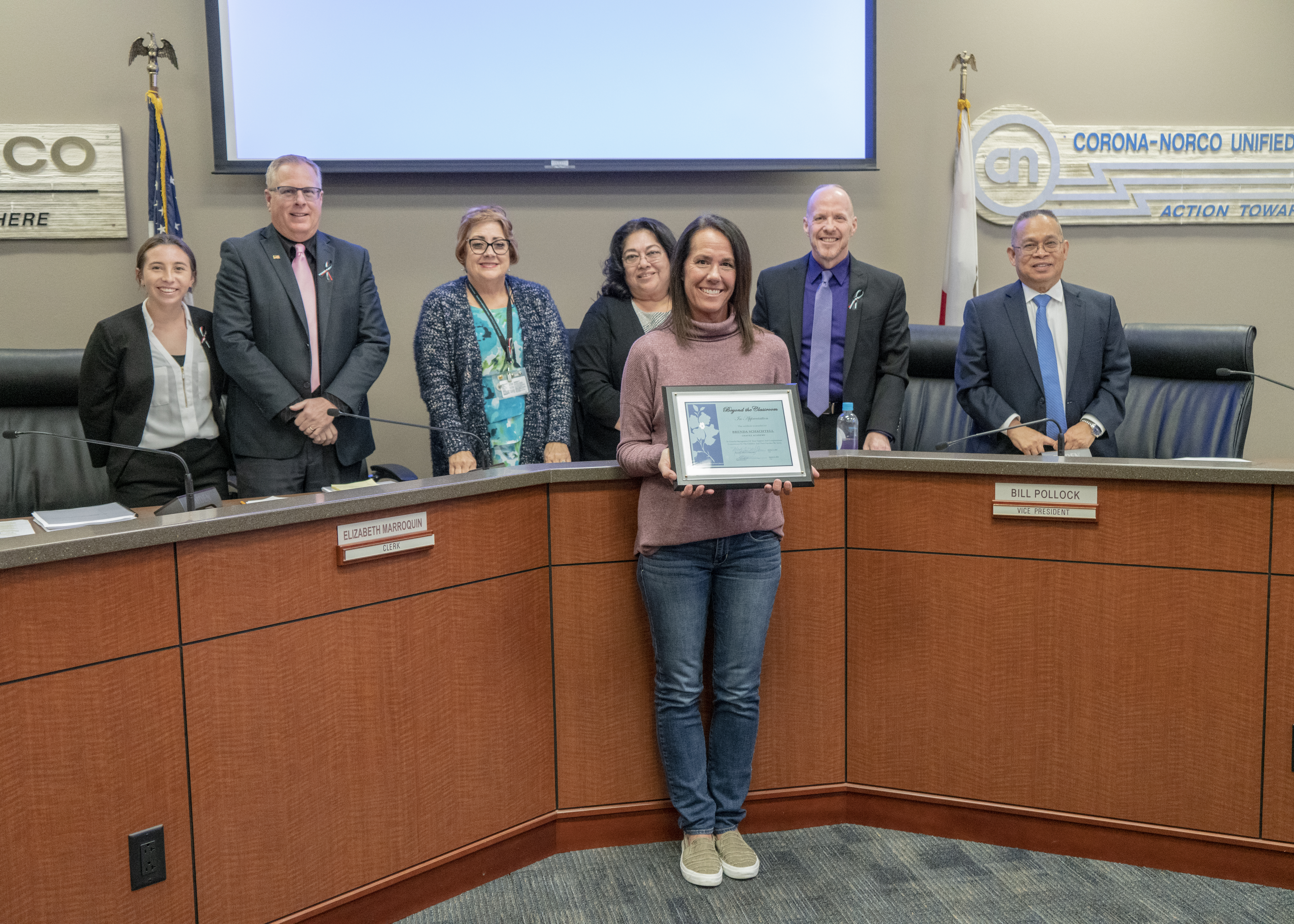 January 2020 Board of Education Special Recognition